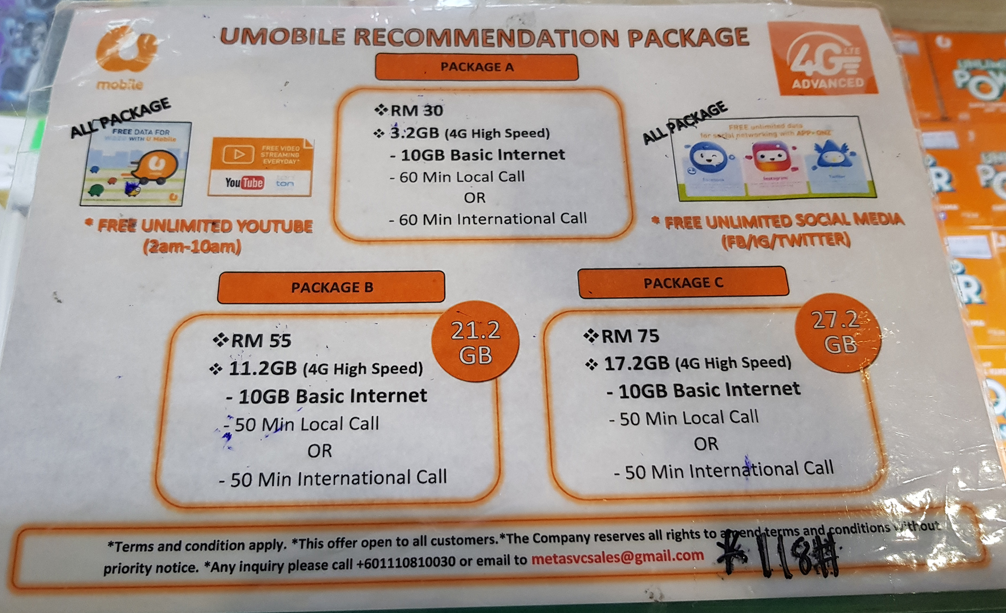 Traveling to Malaysia and Langkawi-GET A LOCAL SIM CARD